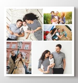 5 photos square collage