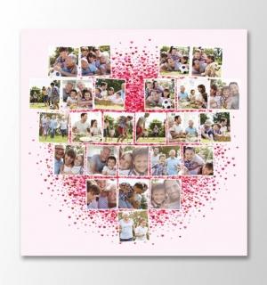 25 photos square heart mosaic