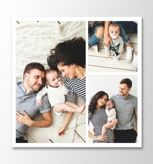 3 photos square collage
