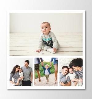 4 photos square collage