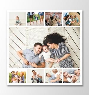 9 photos square collage